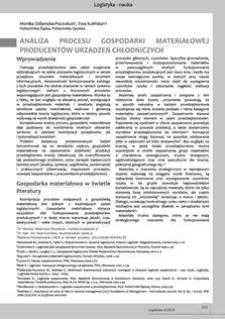 Analiza procesu gospodarki materiałowej producentów urządzeń chłodniczych