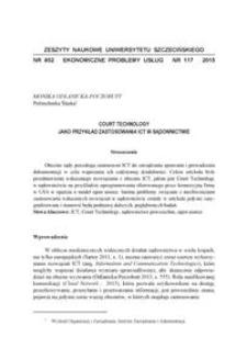 Court Technology jako przykład zastosowania ICT w sądownictwie