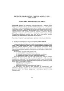 Identyfikacja błędów w procesie kompletacji - case study