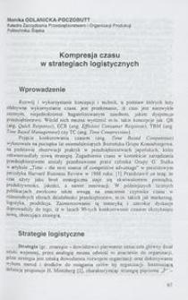 Kompresja czasu w strategiach logistycznych