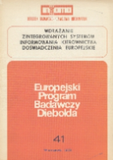 Wdrażanie zintegrowanych systemów informowania kierownictwa : doświadczenia europejskie