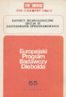 Raporty technologiczne sekcja IX : zastosowanie oprogramowania