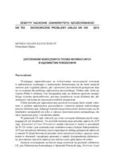 Zastosowanie nowoczesnych technik informacyjnych w sądownictwie powszechnym