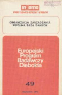 Organizacja zarządzania wspólną bazą danych