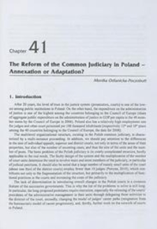 The reform of the common judiciary in Poland - annexation or adaptation?