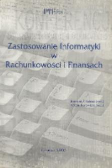Zastosowanie informatyki w rachunkowości i finansach