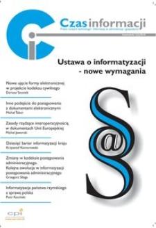 Ustawa o informatyzacji - nowe wymagania, Nr 1