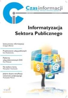 Informatyzacja sektora publicznego, Nr 4