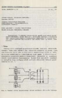 Model analogowy i badania tyrystorowego układu zasilania odbiornika łukowego