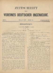 Zeitschrift des Vereines Deutscher Ingenieure ; Bd. 20 ; H. 8