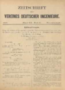 Zeitschrift des Vereines Deutscher Ingenieure ; Bd. 20 ; H. 11