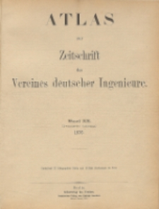 Zeitschrift des Vereines Deutscher Ingenieure Bd. 20 ; Atlas