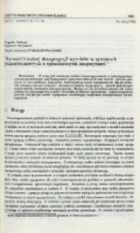 Warunki idealnej dezagregacji wyrobów w systemach jednostopniowych z ograniczonymi magazynami