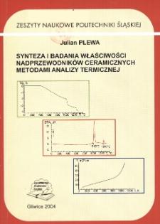 Synteza i badania właściwości nadprzewodników ceramicznych metodami analizy termicznej