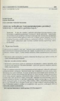 Algorytm nadrzędnego harmonogramowania produkcji wsadowej w reaktorach periodycznych