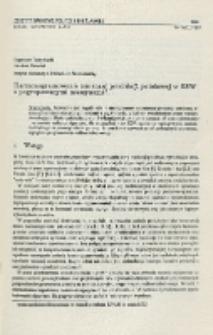 Harmonogramowanie zmiennej produkcji potokowej w ESW z pogrupowanymi maszynami