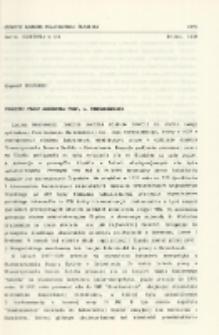 Początki pracy zawodowej prof. L. Nehrebeckiego