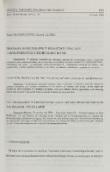 Programy komputerowe w dydaktyce i pracach laboratoryjnych z technologii betonu