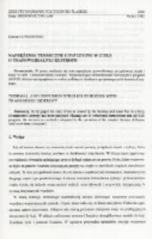 Naprężenia termiczne i dyfuzyjne w ciele o transwersalnej izotropii
