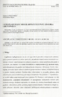 Lepkoplastyczny model konstytutywny ośrodka gruntowego