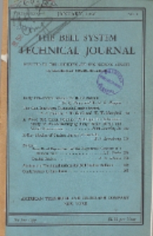 The Bell System Technical Journal : devoted to the Scientific and Engineering aspects of Electrical Communication, Vol. 25, No. 1
