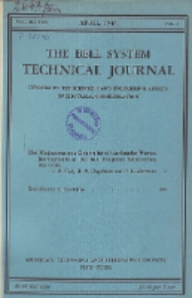 The Bell System Technical Journal : devoted to the Scientific and Engineering aspects of Electrical Communication, Vol. 25, No. 2