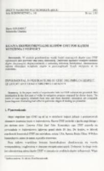 Badania eksperymentalne słupów CFST pod kątem wytężenia i nośności