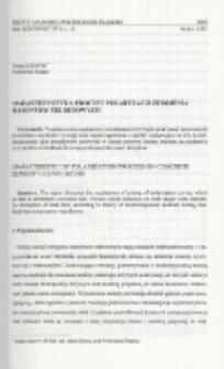 Charakterystyka procesu polaryzacji zbrojenia elementów żelbetowych
