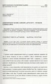 Konsystentny model lepkoplastyczny - funkcje materiałowe