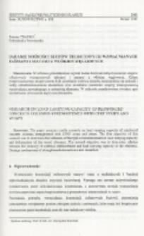 Badanie nośności słupów żelbetowych wzmacnianych taśmami i matami z włókien węglowych