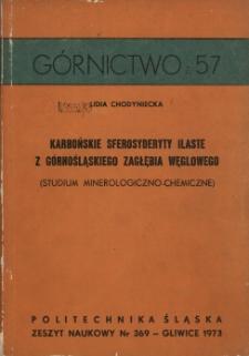 Karbońskie sferosyderyty ilaste z Górnośląskiego Zagłębia Węglowego (studium mineralogiczno-chemiczne)