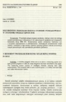 Rezydentny program obsługi systemu pomiarowego w systemie operacyjnym DOS