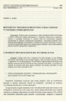 Rezydentny program korzystania z bazy danych w systemie operacyjnym DOS