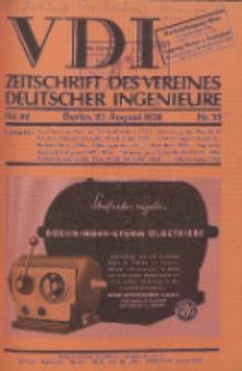 Zeitschrift des Vereines Deutscher Ingenieure, Bd. 82 , H. 35