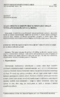 Zmiany spektrum odpowiedzi w przypadku drgań wywołanych eksploatacją metra