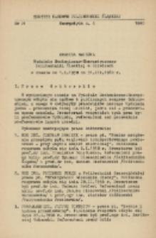 Kronika naukowa Wydziału Mechanicznego-Energetycznego Politechniki Śląskiej w Gliwicach w czasie od 1.I.1958 do 31.III.1960 r.