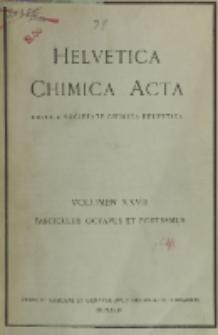 Helvetica Chimica Acta, Vol. 27, Fasc. 1