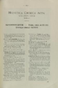Helvetica Chimica Acta, Vol. 27, Autorenregister