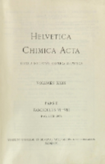 Helvetica Chimica Acta, Vol. 29, Fasc. 6