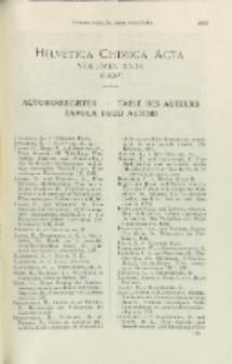 Helvetica Chimica Acta, Vol. 29, Autorenregister