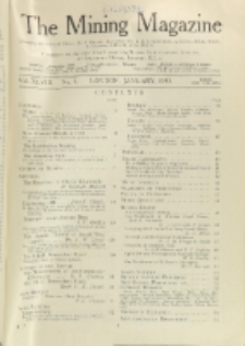 The Mining Magazine, Vol. 48, No. 1