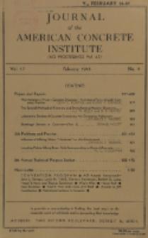 Journal of the American Concrete Institute, Vol. 17, No. 4