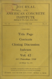 Journal of the American Concrete Institute, Vol. 18, No. 4, Part 2