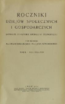 Roczniki Dziejów Społecznych i Gospodarczych, T. 2 (1932 ; 1933)