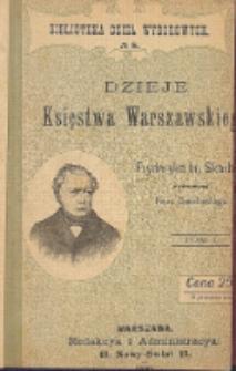 Dzieje Księstwa Warszawskiego. T. 1