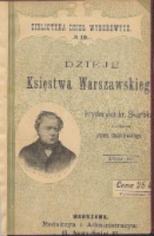Dzieje Księstwa Warszawskiego. T. 3