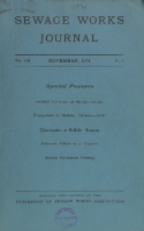 Sewage Works Journal, Vol. 13, No. 6