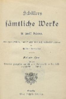 Schillers sämtliche Werke in zwölf Bänden : mit einem Bildnis, einer Biographie und Charakteristik Schillers. Bd. 7