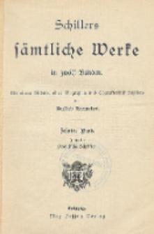 Schillers sämtliche Werke in zwölf Bänden : mit einem Bildnis, einer Biographie und Charakteristik Schillers. Bd. 10
