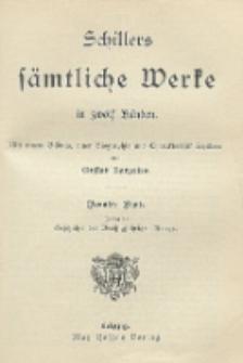 Schillers sämtliche Werke in zwölf Bänden : mit einem Bildnis, einer Biographie und Charakteristik Schillers. Bd. 9